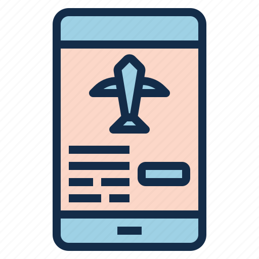 booking, check, confirm, flight, in, mobile, online icon