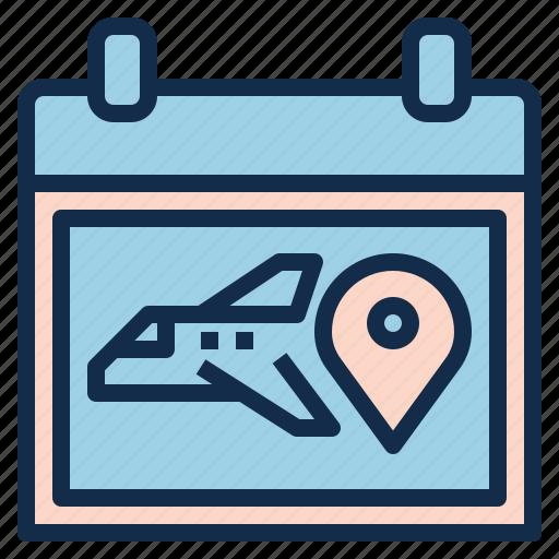 aviation, booking, flight, pilot, plan, schedule icon