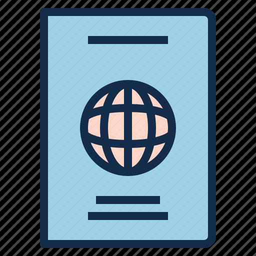 identification, immigration, passport, travel, visa icon