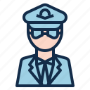 aircraft, avatar, aviation, cabin, crew, pilot icon