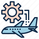 aviation, check, engine, maintenance, plane, repair icon