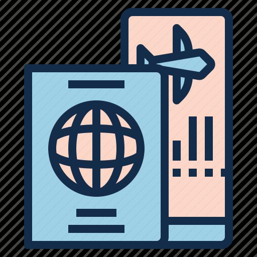 boarding, entrance, gate, pass, ticket, travel, visa icon