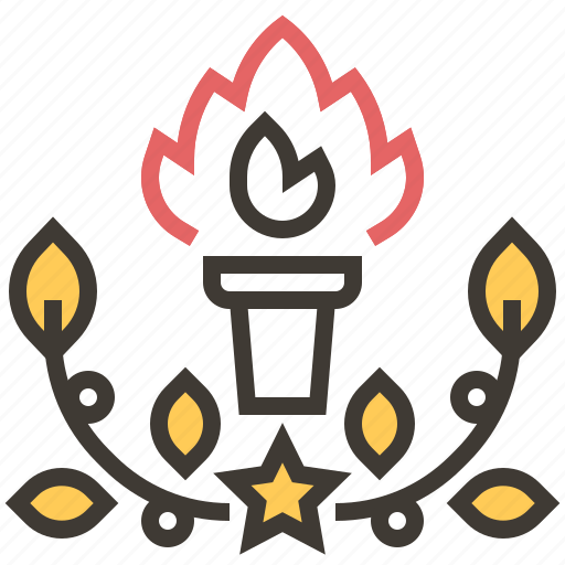 fire, flame, games, olympic, sports, sports and competition, torch icon