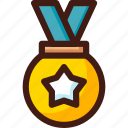 award, medal, place, prize, trophy, win, winner icon