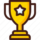 award, gold, prize, star, trophy, win, winner icon