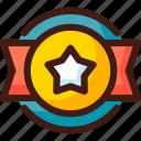 award, badge, prize, star, trophy, win, winner icon