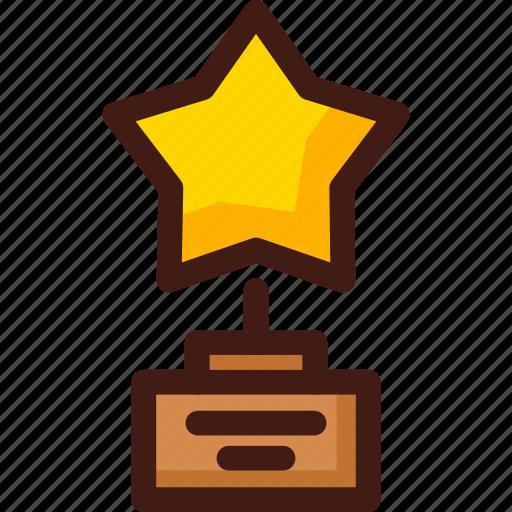 award, prize, star, trophy, win, winner icon
