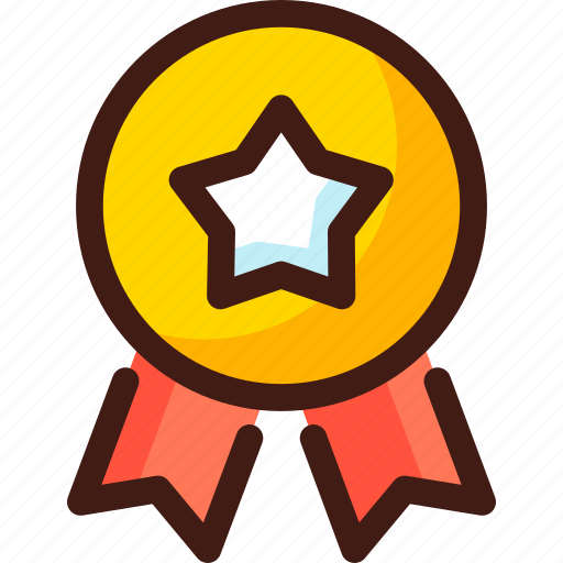 award, prize, ribbon, star, trophy, win, winner icon