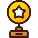 award, prize, star, trophy, win, winner icon