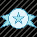 award, badge, medal, prize, ribbon, star, win icon
