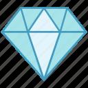 award, badge, diamond, medal, prize, reward, win