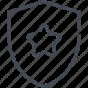 award, first, place, reward, shield, star
