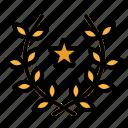 award, branch, wreath, frame