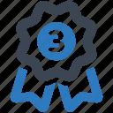 badge, third, winner icon