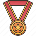 award, bronze, medal, prize, third icon
