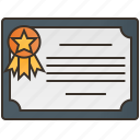 achievement, certificate, diploma, document, guarantee