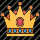 crown, golden, jewel, king, royal