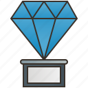 award, crystal, diamond, prize, trophy icon