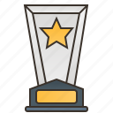 award, certificate, glass, success, trophy icon