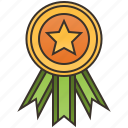 achievement, badges, golden, honor, medals icon
