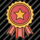 award, badges, golden, star, winner