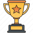 champion, golden, trophy, ward, winner icon