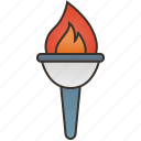 ceremony, competition, fire, flame, torch