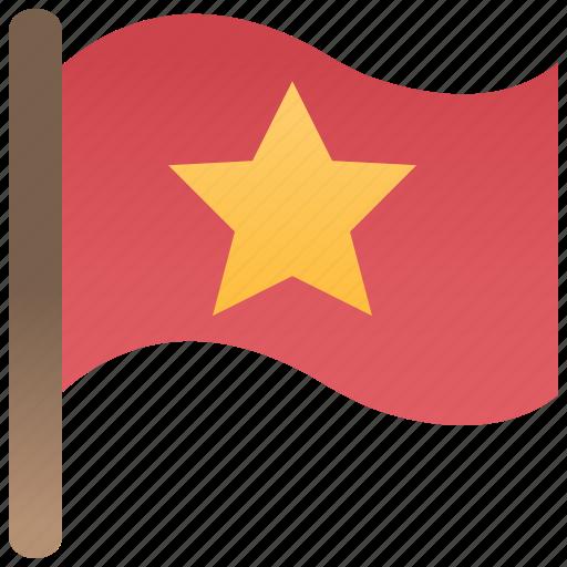 Banner, flag, nation, red, star icon - Download on Iconfinder