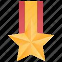 badge, golden, honor, medal, star