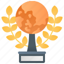 achievement, golden, trophy, world, wreath