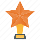 award, golden, prize, star, trophy icon