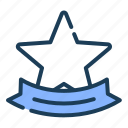 badge, star, ribbon, label