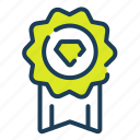 quality, badge, premium, ribbon