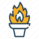torch, fire, flame, olympic, competition