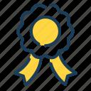 ribbon, badge, medal, prize