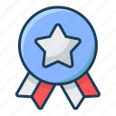 badge, star, favorite, medal, best