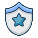 emblem, badge, star, shield, security