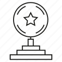 achievement, award, prize, reward, star, success, trophy icon