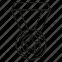 achievement, award, medal, prize, reward, star, success icon