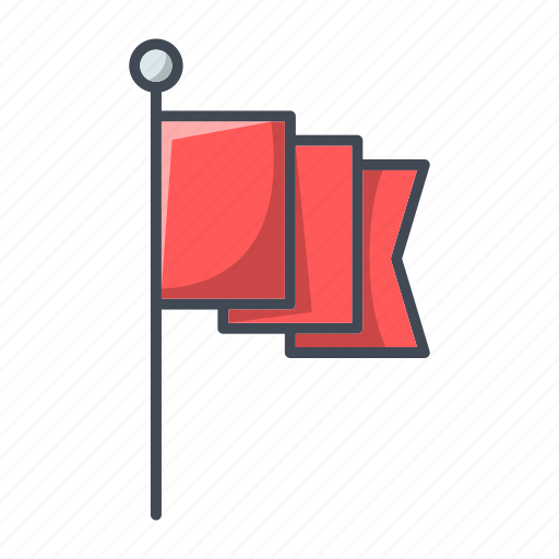 flag, gps, location, pin, pointer icon