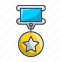 achievement, award, gold, medal, success, trophy, win icon