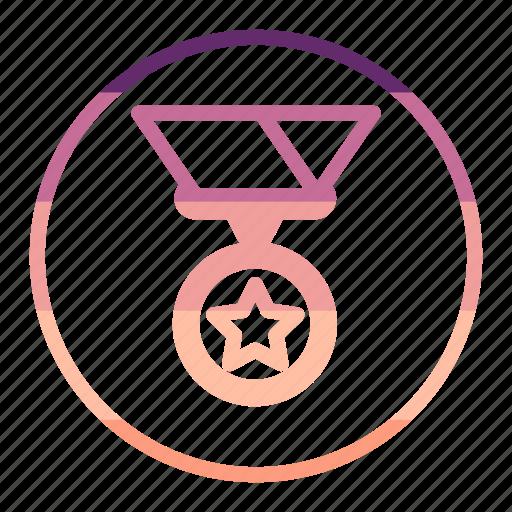 achievement, award, medal, star icon