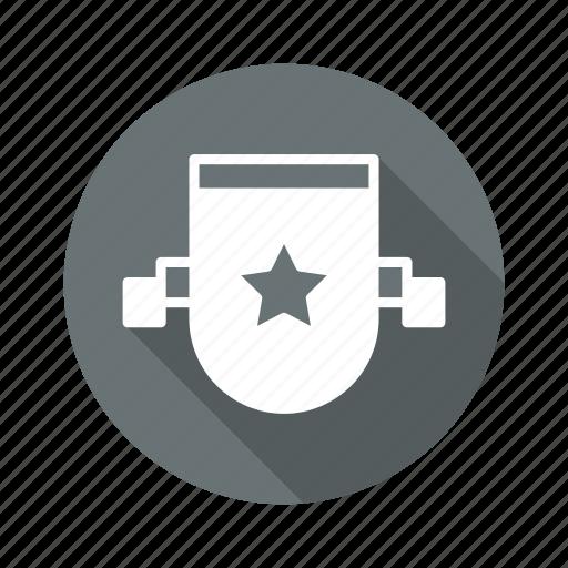 badge, ribbon, shield, star icon