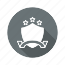 achievement, award, shield, stars icon