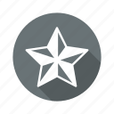 achievement, badge, favourite, prize, star icon