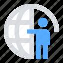 global, user, management, analytics icon