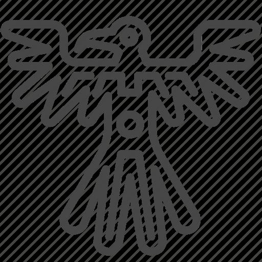 ancient, aztec, bird, maya, mayan, tribe icon