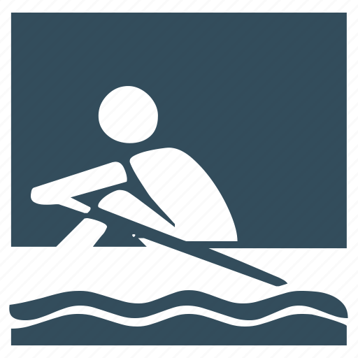 rowing, sea, sport, water icon