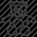 bear, plush, teddy, toy