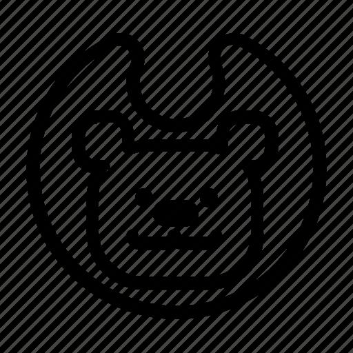 baby, bear, bib icon